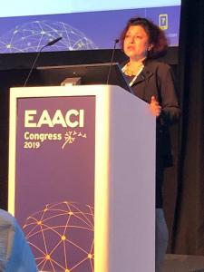 Zuzana Diamant presents at the annual EAACI conference in Lisbon, Portugal in June 2019.